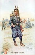 Infanterie Coloniale - Illustration Couleurs De Léon HINGRE - Très Beau Portrait - Uniformen
