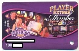 Finger Lakes Gaming, Farmington, NY,  U.S.A. older used slot or player�s card, # fingerlakes-3