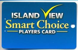 Island View Casino, Gulfport, MS, U.S.A. older used  slot card, islandview-3  BLANK CARD
