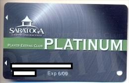 Saratoga Casino, Saratoga Springs, NY,  U.S.A. older used slot or player�s card, # saratoga-3