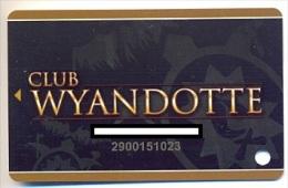 Wyandotte Casino, Wyandotte, OK  U.S.A., older used membership card, wyandotte-1