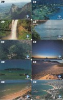 BRAZIL(Telemar) - Pontos Turisticos Do Espirito Santo/Natureza, Set Of 10 Cards, 12/00, Used - Brasilien