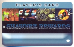 Thunderbird Casino & Shawnee Casino, OK,  U.S.A., older used slot or player�s card,  thunderbird-1blank   BLANK CARD
