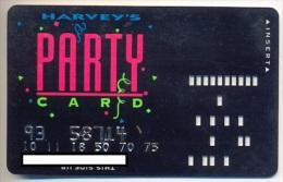 Harveys Casino, U.S.A., older used slot card,  harveys-8