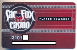 Sac & Fox Casino, Shawnee, OK, U.S.A.,  older used slot or players card, sac&fox-4