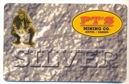 PT�S Mining Co. Hotel & Casino,  Henderson, NV, U.S.A. older used slot card, # pts-2  (closed casino)