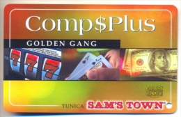 Sam�s Town Casino, Tunica, MS, U.S.A.,  older used slot or players card, sams-8blank  BLANK CARD