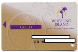 Wheeling Island Casino, Wheeling, West Virginia, U.S.A. older used  slot card, wheelingisland-9