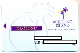 Wheeling Island Casino, Wheeling, West Virginia, U.S.A. older used  slot card, wheelingisland-7