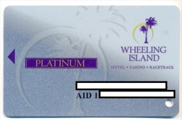 Wheeling Island Casino, Wheeling, West Virginia, U.S.A. older used  slot card, wheelingisland-8