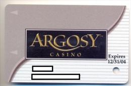 Argosy Casino, Kansas City, U.S.A., older used slot or player�s card, argosy-11