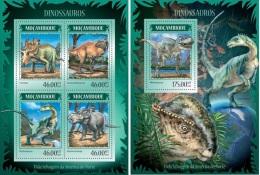 Mozambico 2014, Dinosaurus, 4val in BF +BF