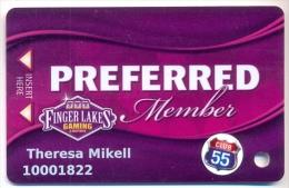 Finger Lakes Gaming, Farmington, NY,  U.S.A. older used slot or player�s card, # fingerlakes-5a