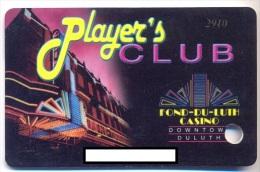 Fond-du-Luth Casino, Duluth, MN, U.S.A.,  older used slot or player�s card, fonduluth-1