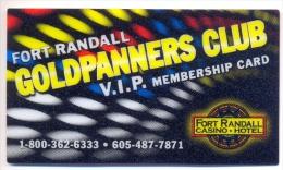 Fort Randall Casino, Pickstown, SD, U.S.A.,  V.I.P. Membership card, #  fortrandall-1