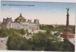 Deutschland,DEUTSCHES,ALLEMAGNE,BERLIN,REICHSTAGSGEBAUDE UND  SIEGESSAULE,statue,rare - Unclassified