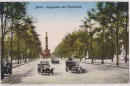Deutschland,DEUTSCHES,ALLEMAGNE,BERLIN,SIEGESALLEE UND SIEGESSAULE,grande Avenue,voiture Ancienne,rare - Unclassified