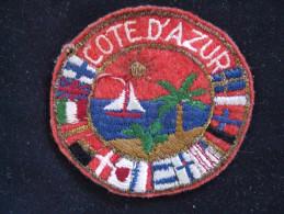 ECUSSON  PATCH BRODE COTE D'AZUR - Blazoenen (textiel)