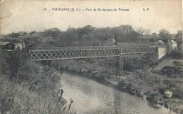 POITOU CHARENTE - 79 - DEUX SEVRES - THOUARS - Pont De St Jacques De Thouau - Coin HG Cassé - Thouars