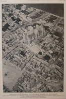 Saint-Quentin Et La Colégiale, Qui Vient D'être Incndiée Par Les Allemands - Page Original  1917 - Documents Historiques