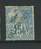 VEND TIMBRE DE NOUVELLE-CALEDONIE N° 20I , SURCHARGE I (MAURY) !!!! (b) - Neukaledonien