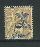 VEND BEAU TIMBRE DE NOUVELLE-CALEDONIE N° 81 , SURCHARGE A CHEVAL !!!! - Unused Stamps