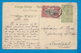 Entier Postaux Carte Postale  Gare de Mayumbe   �  5 centimes+ 10 centimes  Oblit�ration: luh.. 10-10-1916