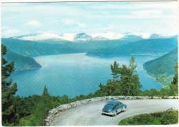 Nordfjord: - VOLVO PV 544  - View From The Utvik Mountain  - Norge / Norway - Voitures De Tourisme