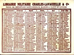 1929 - Librairie Militaire Charles Lavauzelle & Cie Au 124 Boulevard Saint-Germain à Paris 6ème - FRANCO DE PORT - Calendriers