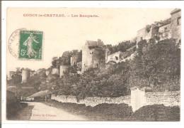 COUCY LE CHATEAU   Les Remparts , Ecrit Rouge - France