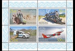 Kirgizië / Kyrgyzstan - Postfris / MNH - Sheet Post Transport 2014 NEW!!! VERY RARE!!! - Kirgizië