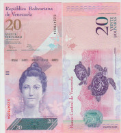 Venezuela 20 Bolivares 2011 Pick 91 UNC - Venezuela