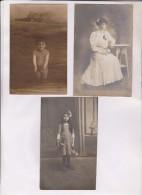 9 CPA PHOTO THEMES ENFANTS (une Carte Femme) - Cartes Postales