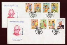 RUANDA, RWANDA, RWANDAISE, 2 X FDC  1983 , MGR, CARDIJN - Rwanda