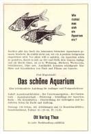 Original Werbung / Reklame - 1959 - Das Schöne Aquarium , Ott Verlag In Thun , Fische , Fred Hagenbüchli , Bücher  !!! - BE Berne
