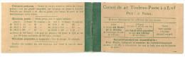France Carnet Semeuse Yv 137-C7 **, 6 Scans, Cérès 12 Dalay 14 Taxes Révisées 12 Aout 1919 Type 1, Papier Blanc. 137 C 7 - Booklets
