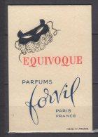 Carte Parfumée - Equivoque - Parfums Forvil - Paris - Antiquariat (bis 1960)