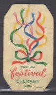 Carte Parfumée - Parfum Festival - Cheramy - Paris - Perfume Cards