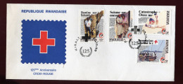 RUANDA, RWANDA, RWANDAISE, FDC, 1988, CROIX - ROUGE - Rwanda