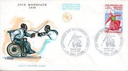 FRANCE. N°1649 Sur Enveloppe 1er Jour De 1970. Handisport/Athlétisme/Escrime. - Handisport