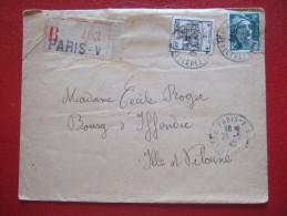 LETTRE RECOMMANDE - 1945 - 2F GANDON + ARMOIERIE DE STRASBOURG 4F - DEST: IFFENDIC : ILLE ET VILAINE - - Marcophilie (Lettres)