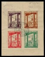 BEAUNE 1943 HOTEL DIEU - 1 BLOC DE 4 VIGNETTES - Commemorative Labels