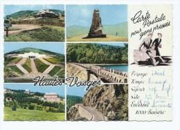 CPSM MULTIVUES GRAND BALLON ET L'HOTEL, MONUMENT DES CHASSEURS, VIEIL ARMAND, LAC DE LA LAUCH, MARSKTEIN, VOSGES 88 - France