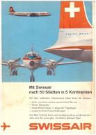 Original Werbung / Reklame - 1959 -  Swissair , Flugzeuge , Flugzeug ,  A4 Seite !!! - Publicités