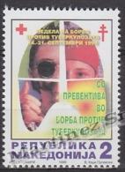 Macedonia 1999 Beneficience Yvert 78, Red Cross, Fight Against Tuberculosis - MNH - Macedonia