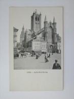 Cpa/pk 1905 Gand Gent VED Eglise Saint -Nicolas Animé Paard Kar TTBE Heel Mooi - Gent