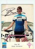 Kees BAL , Autographe Manuscrit, Dédicace. 2 Scans. Gan Mercier 1974 - Cyclisme