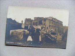 Cartolina/postcard REGGIO CALABRIA - I Superstiti (Terremoto 1908) Ediz. D.R. Luigi Fioroni MILANO - Catastrofi