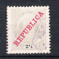 Mozambico  Cie   -   1911.  Ovpt. REPUBBLICA. 2�   gris
