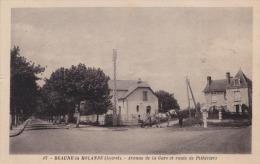 45) BEAUNE LA ROLANDE (Loiret) Avenue De La Gare Et Route De Pithiviers - (animée - Cheval - Attelage) - Beaune-la-Rolande